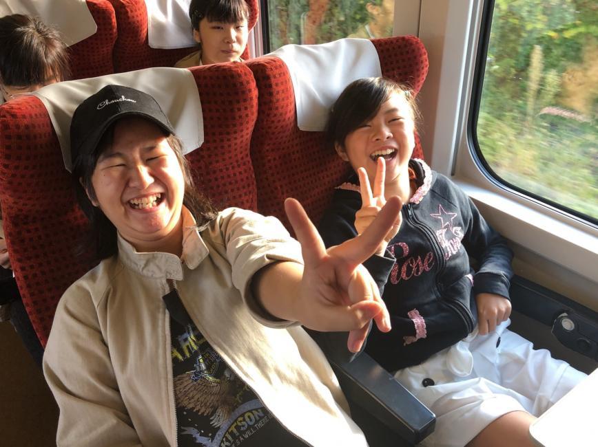 新幹線の車中にて