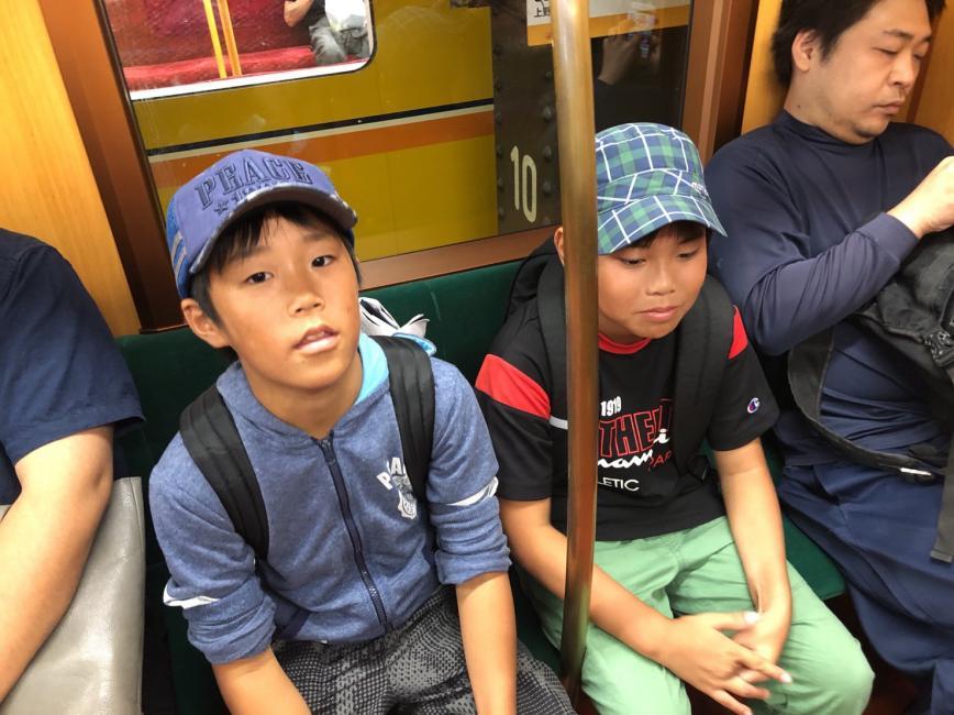 東京メトロ銀座線にて